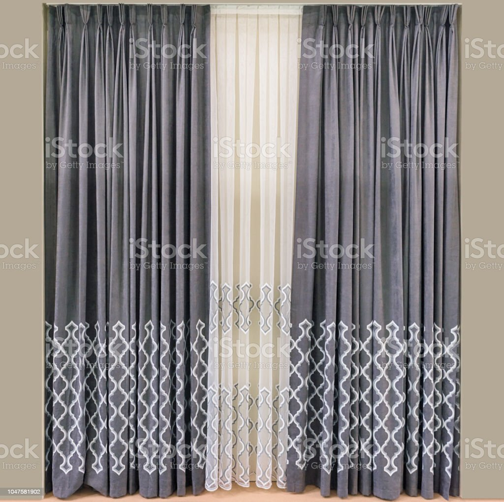 Modern Interior Design Of The Living Room Curtains Made Of