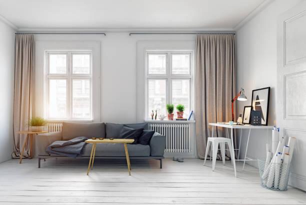 diseño interior moderno. - foto de stock