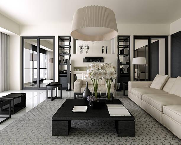 moderne innendesign - luxuriöse inneneinrichtung stock-fotos und bilder