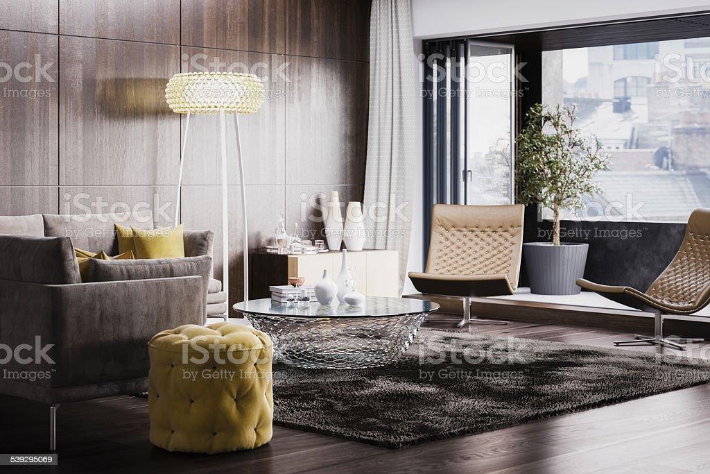 Moderno design de interiores - foto de acervo