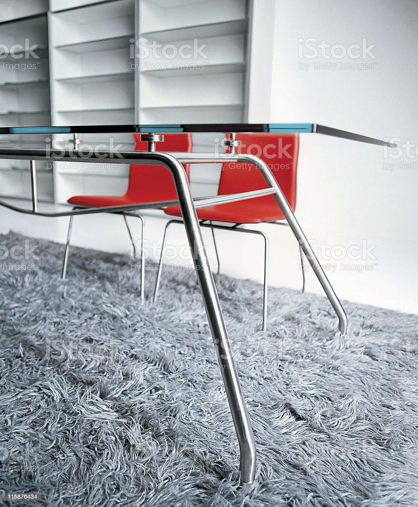 Modern interior | Dining room royalty-free stock photo