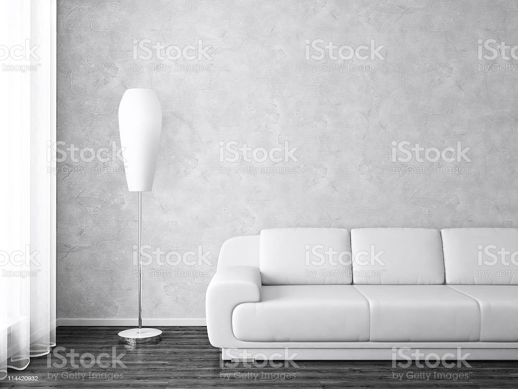 Modernes Interieur in Schwarz – Foto