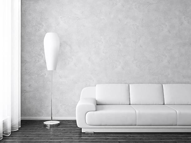Intérieur moderne en monochrome - Photo