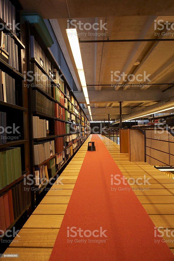 Modern interior | Library royalty-free stock photo
