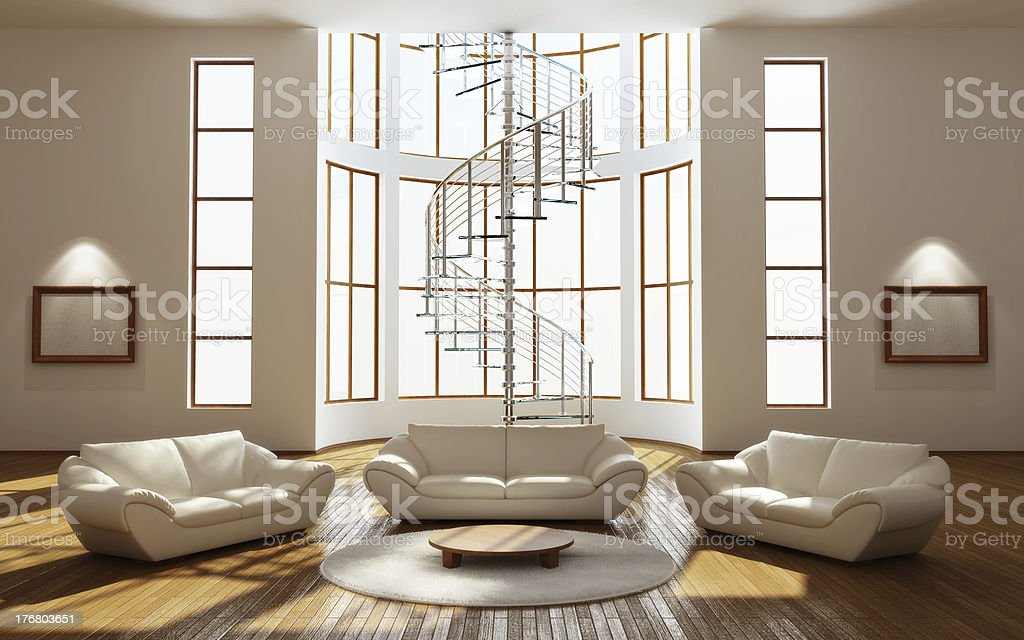 Modern interior of a drawing room royalty-free stock photo
