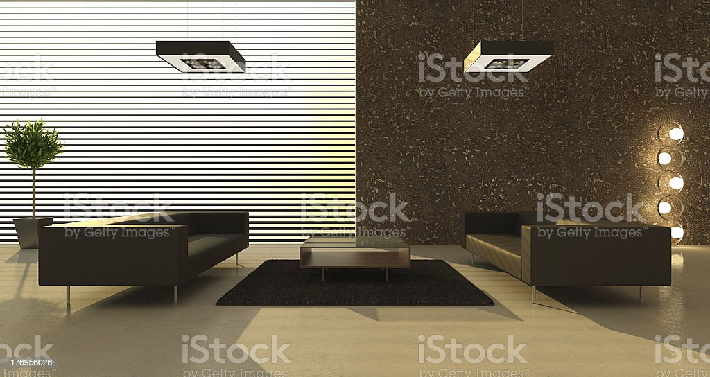 Modern interior of a room royalty-free stock photo