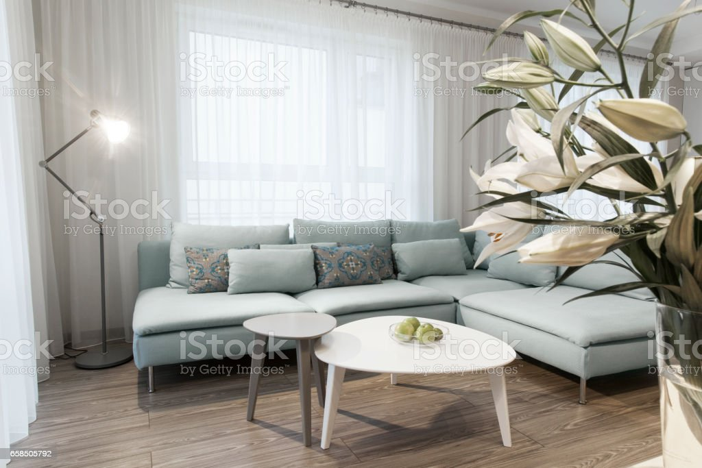 Modern interior of a small private apartment, sitting room – Foto