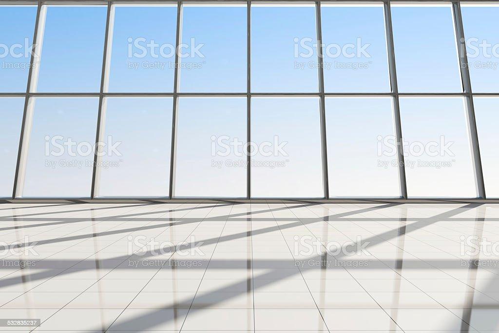 Modernes Interieur von einem Flughafen Terminal auf Sie warten. – Foto