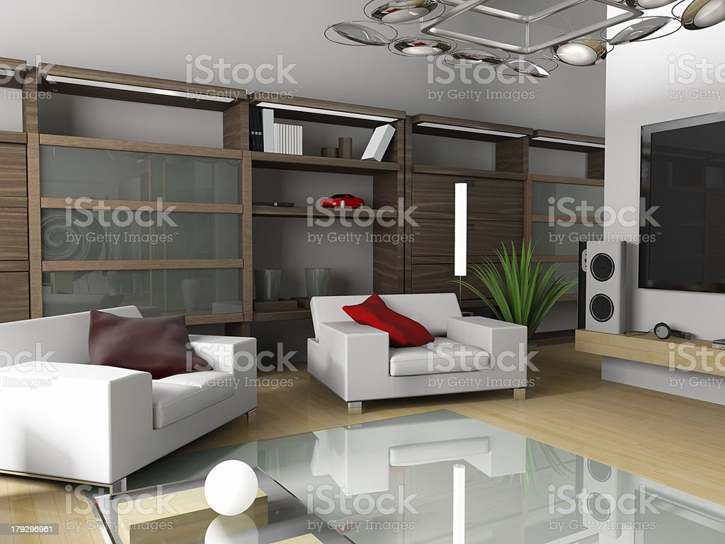 Modern interior of an apartment royalty-free stock photo