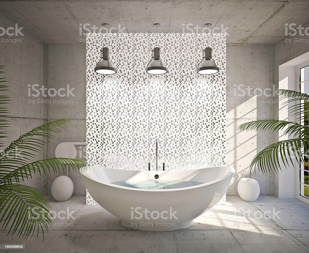Modern interior of bathroom stock photo