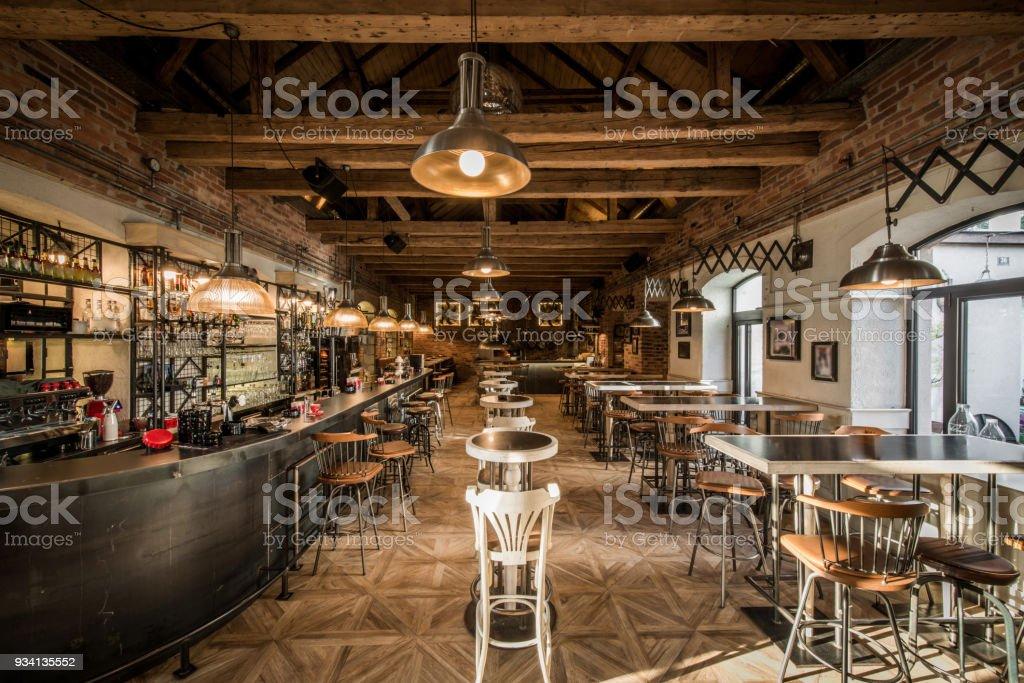 Modernes Interieur der Caffe restaurant – Foto