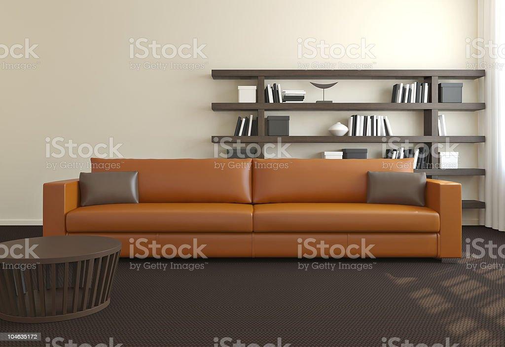 Modern interior of living-room. royalty-free stock photo
