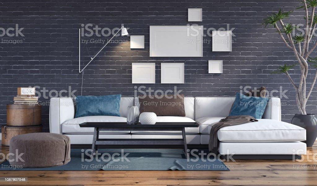 Modern Interior Modern Sofa Apartment Stock Photo