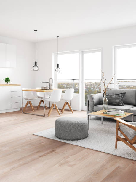 modern interior - nelleg stock photos and pictures