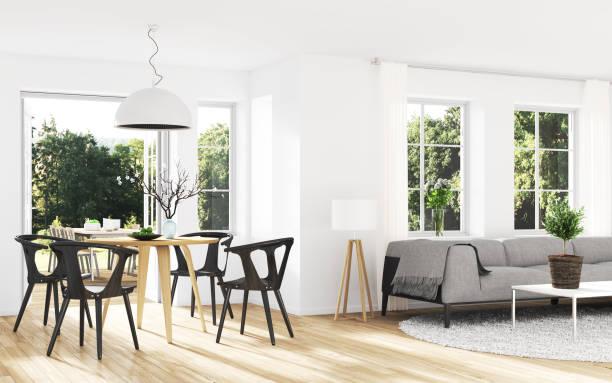 modernes interieur - outdoor esszimmer stock-fotos und bilder