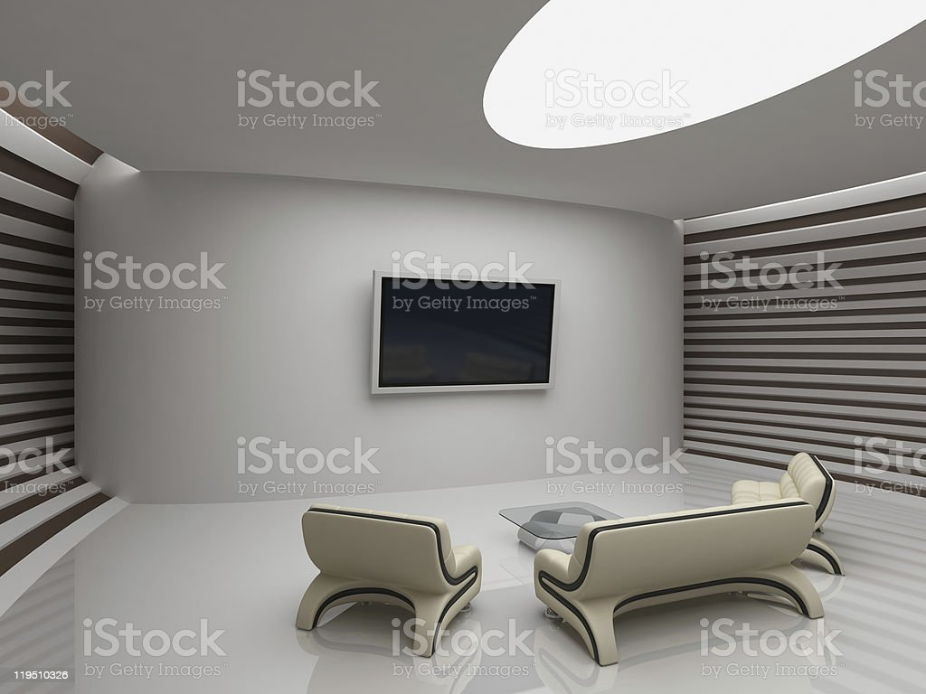 Modern interior Modern interior in yacht style Apartment Stock Photo