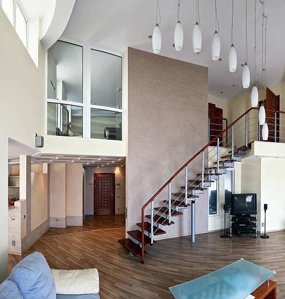 Modern interior (panoramic photo) stock photo