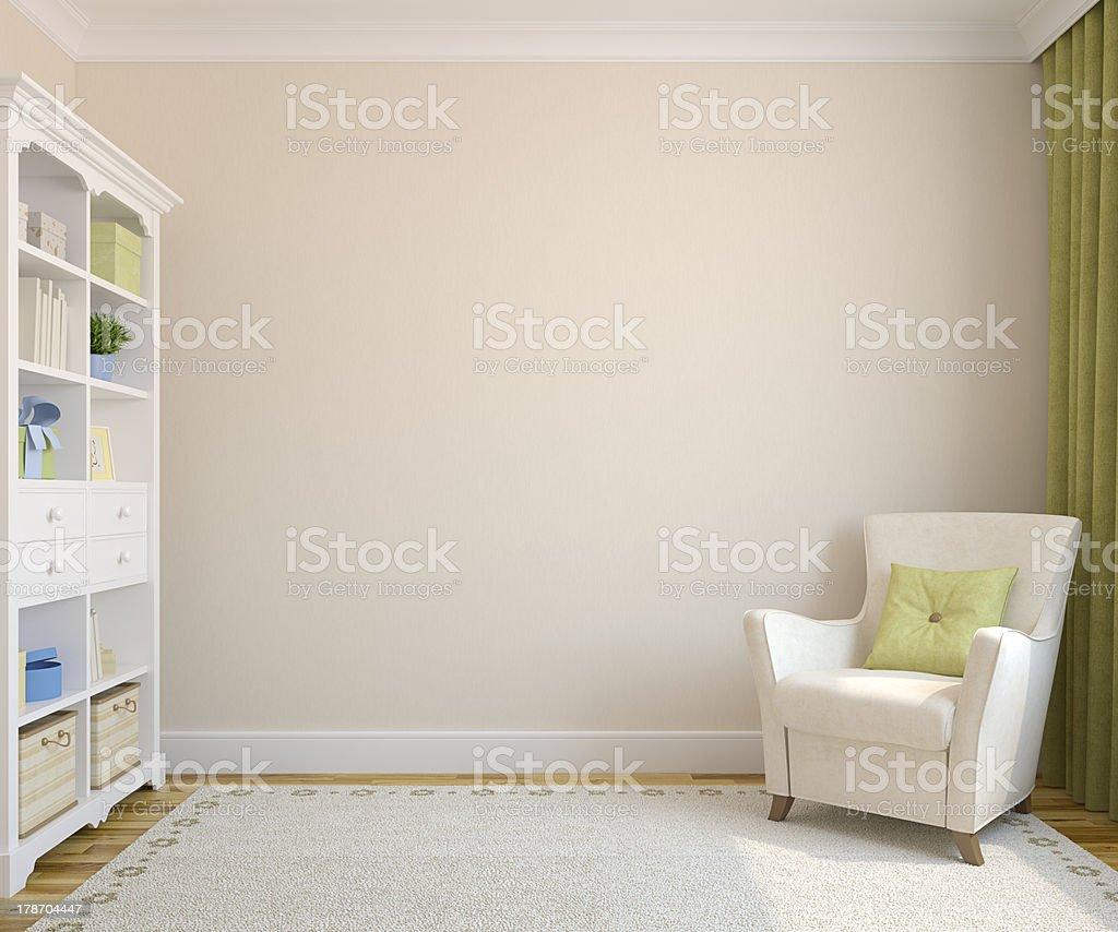 Modern interior. stock photo