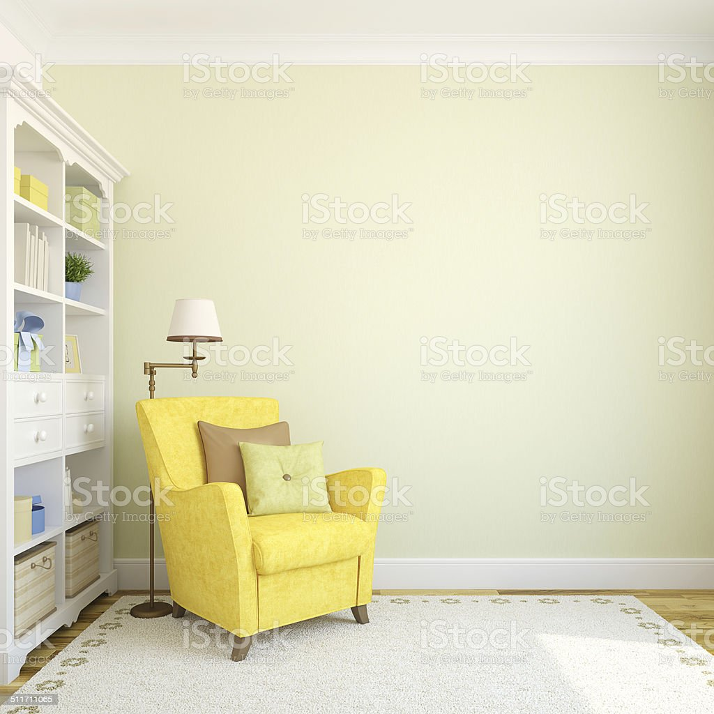 Modern interior. stock photo
