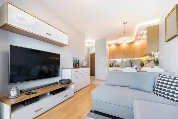 moderne inneneinrichtung - kücheneinrichtung zubehör stock-fotos und bilder