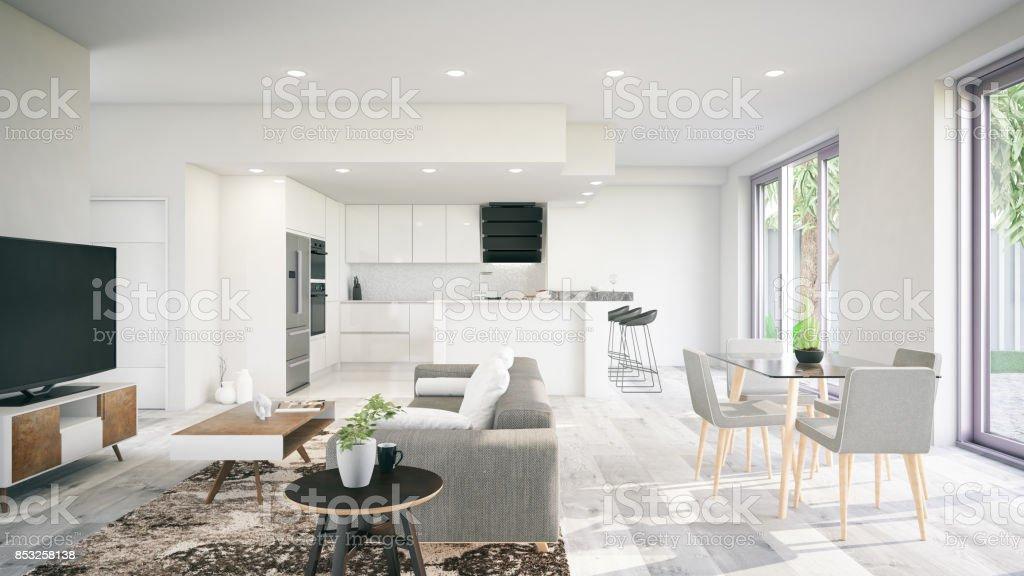 Modern interiör bildbanksfoto