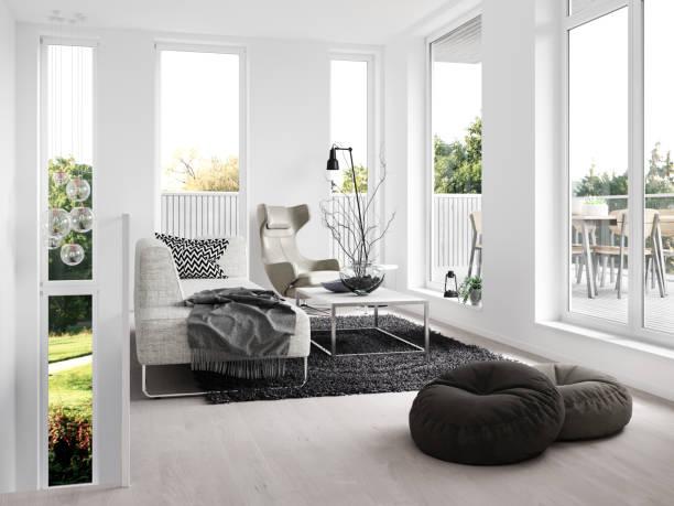 moderne inneneinrichtung - teppich geometrisch stock-fotos und bilder