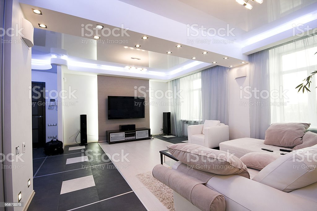 modern interior stock photo