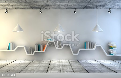 istock Modern interior room with beautiful furniture 611177968