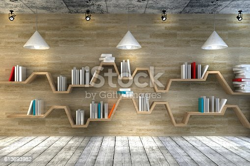 istock Modern interior room with beautiful furniture 613693982