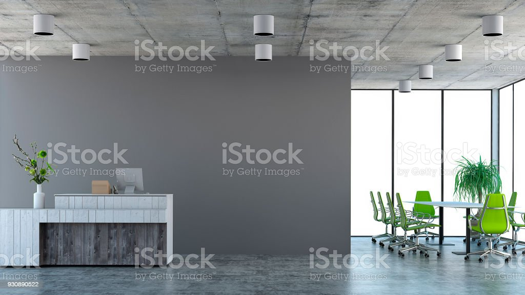 modern interior office stock. Modern Interior With Conference Table And Chairs Cashier Counter Royalty-free Stock Photo Office