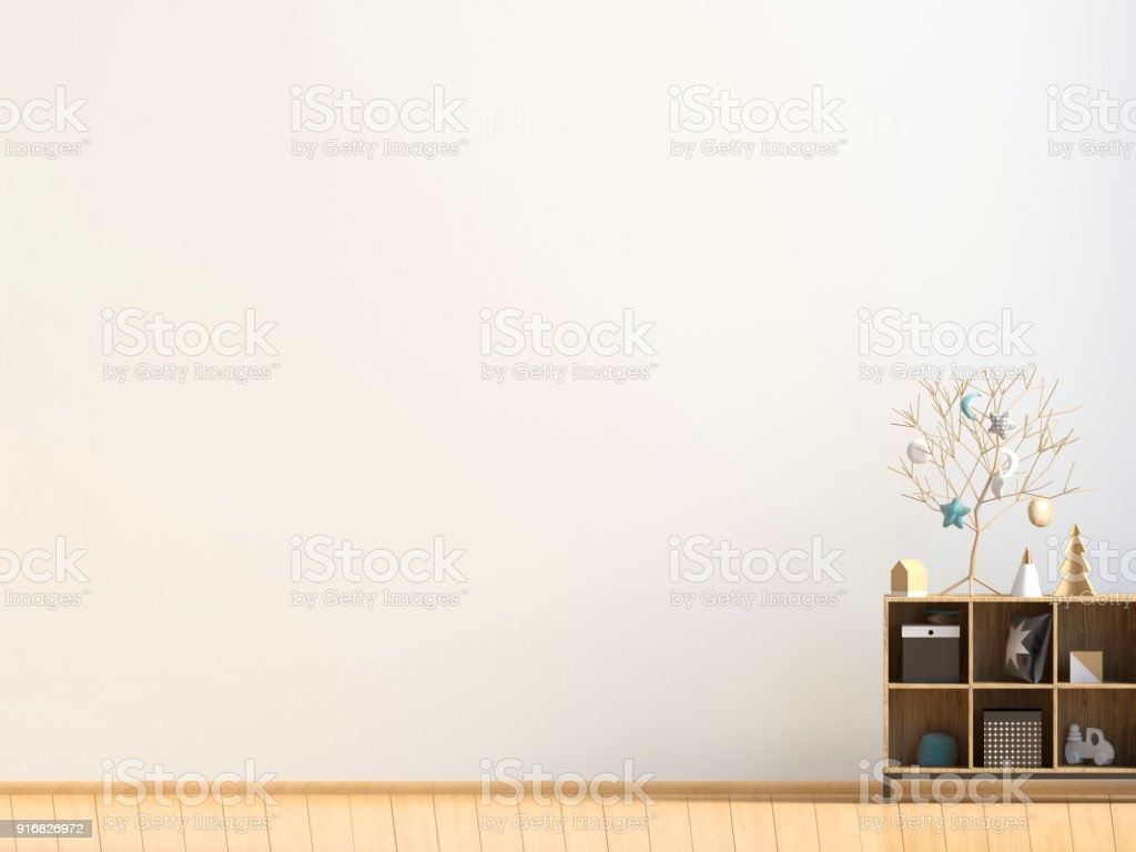 Modern Interior With Credenza Posters And Lampswall Mock Up 3d ... on modern desk, modern entertainment center, modern lamp, modern secretary, modern daybed, modern wall unit, modern chaise lounge, modern etagere, modern commode, modern drawers, modern recliner, modern sideboard, modern tv,