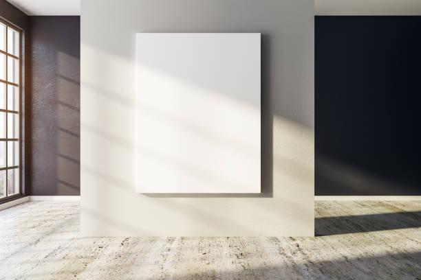 Modernes Interieur mit leeren Plakatwand – Foto