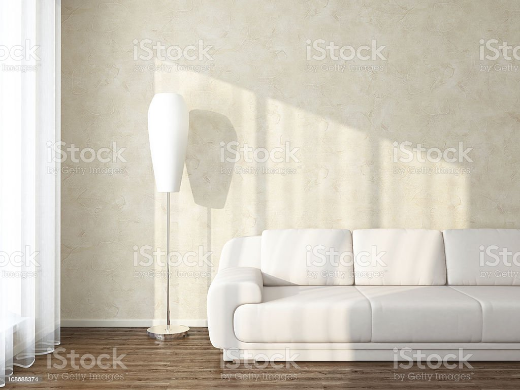 Modern interior with sunlight royalty-free stock photo