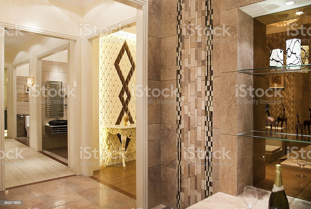 Modern  interiors royalty-free stock photo