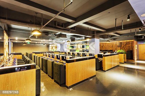 Modern Internet Cafe Interior Stock Photo & More Pictures ...