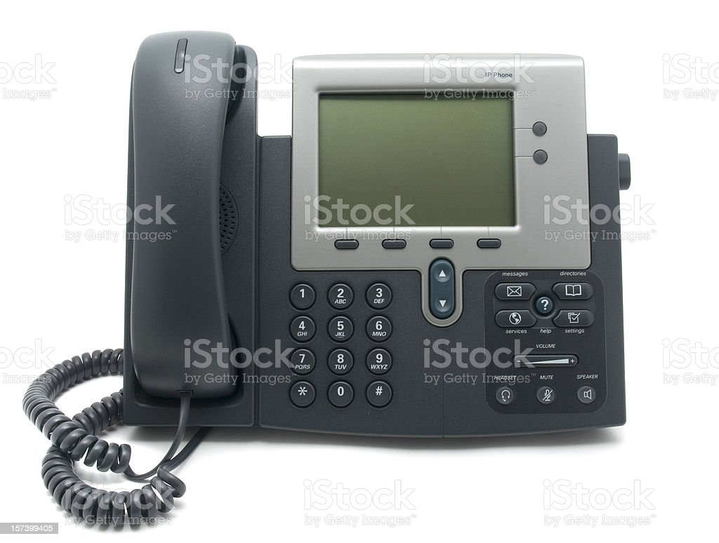 Modern IP Telephone stock photo