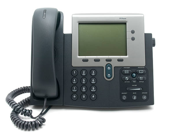Modern IP Telephone  conference phone stock pictures, royalty-free photos & images
