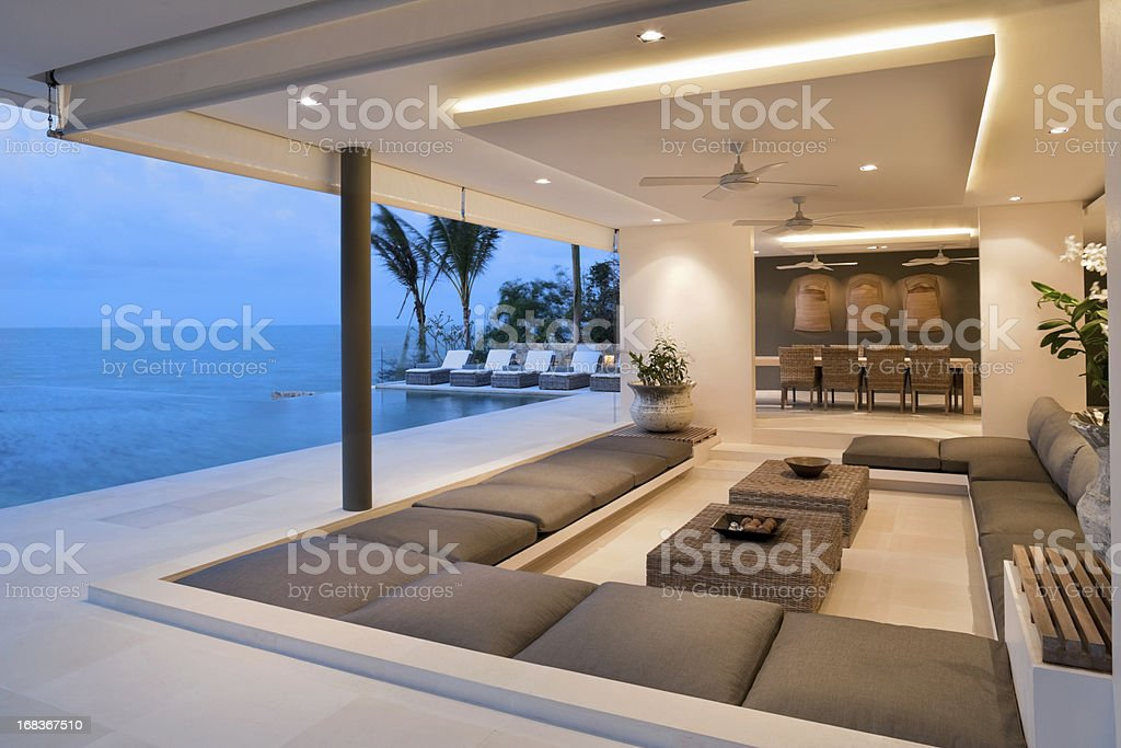 Modern Island Villa stock photo