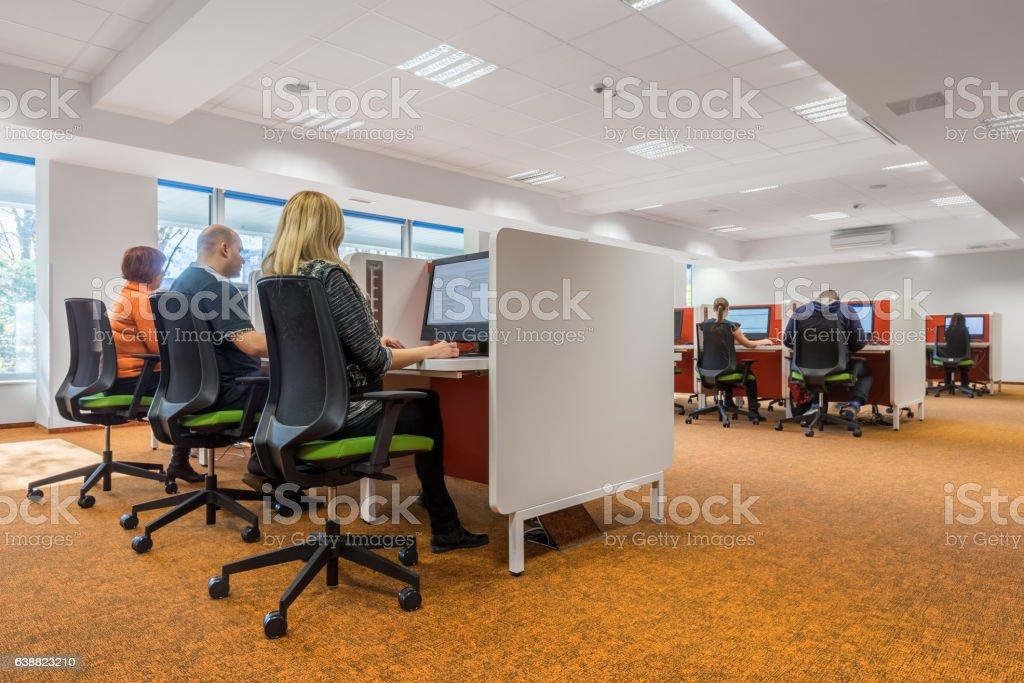Modern IT classroom stock photo