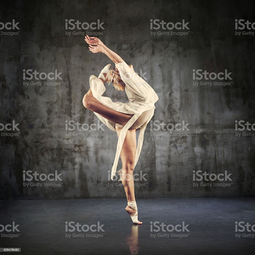 Modern Jazz dancer practicing stock photo
