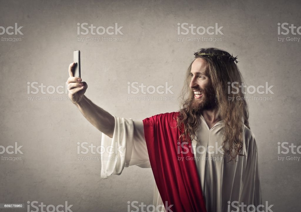 Modern Jesus stock photo