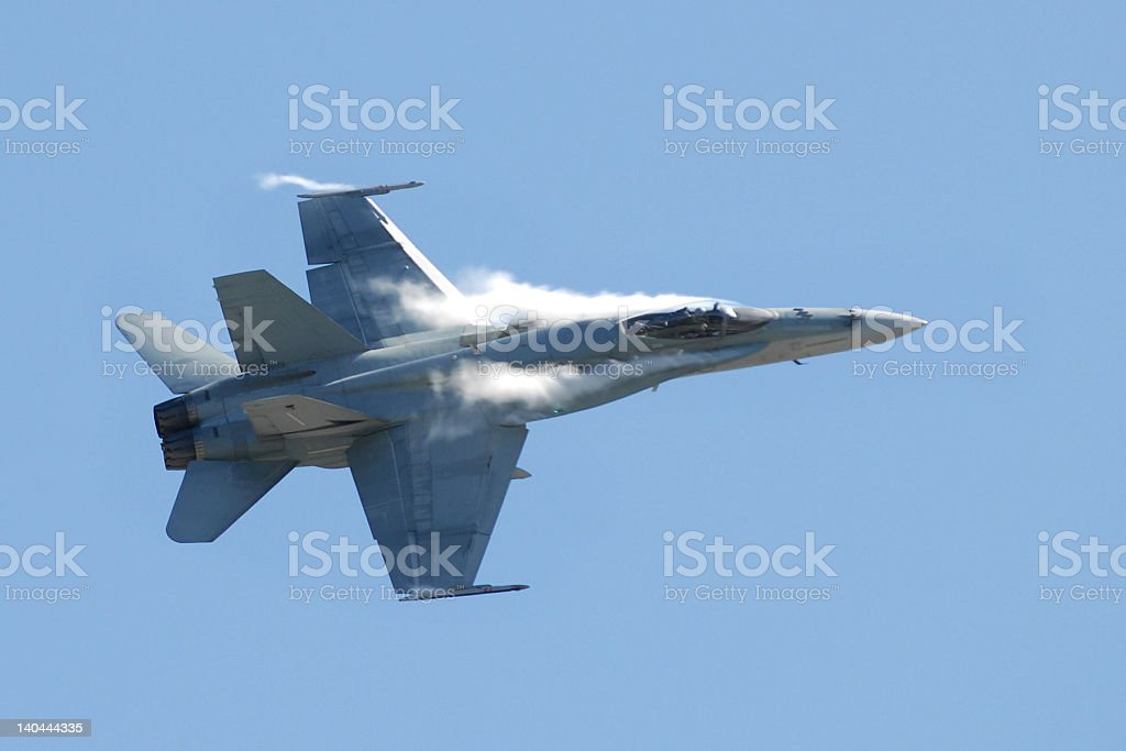 Modern Jet Aicraft - FA-18 Hornet royalty-free stock photo