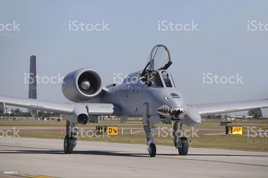 Modern jet fighter royalty-free stock photo