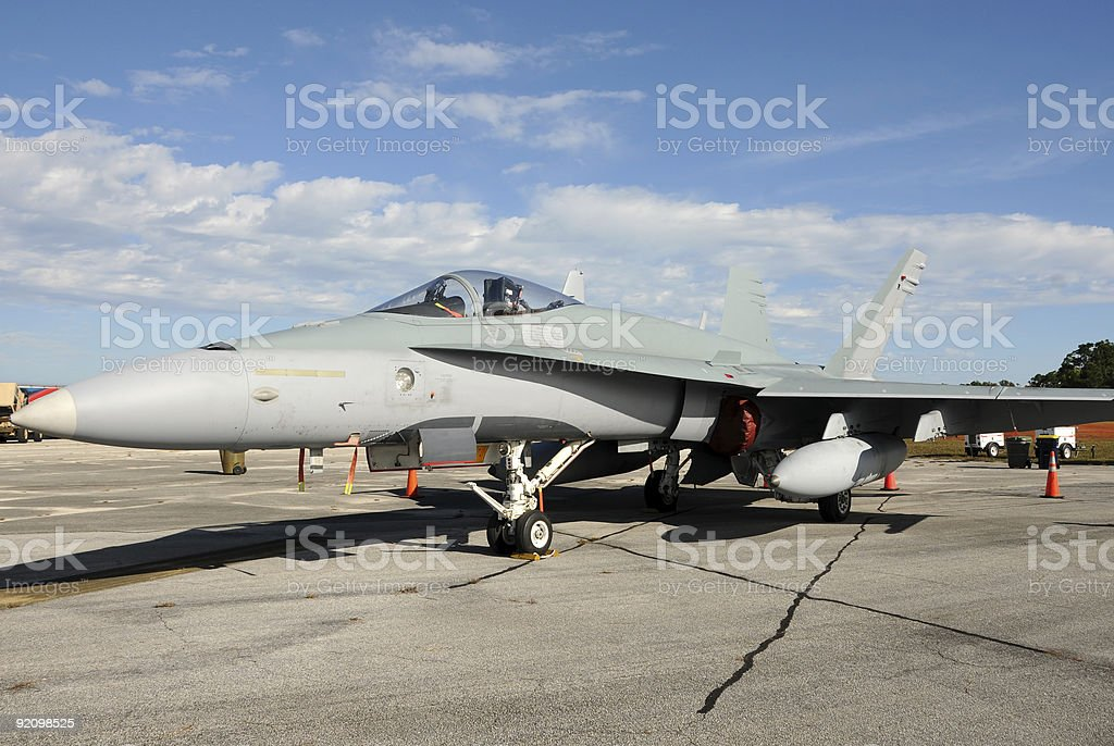 Modern jetfighter royalty-free stock photo