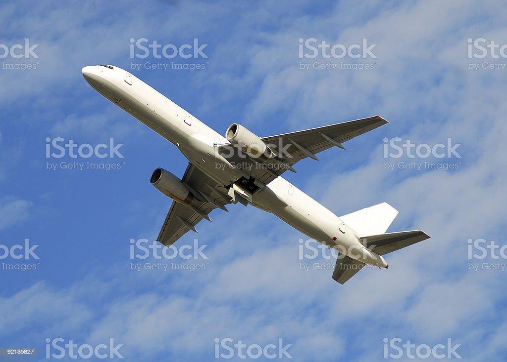 Modern jetliner Boeing 757 stock photo