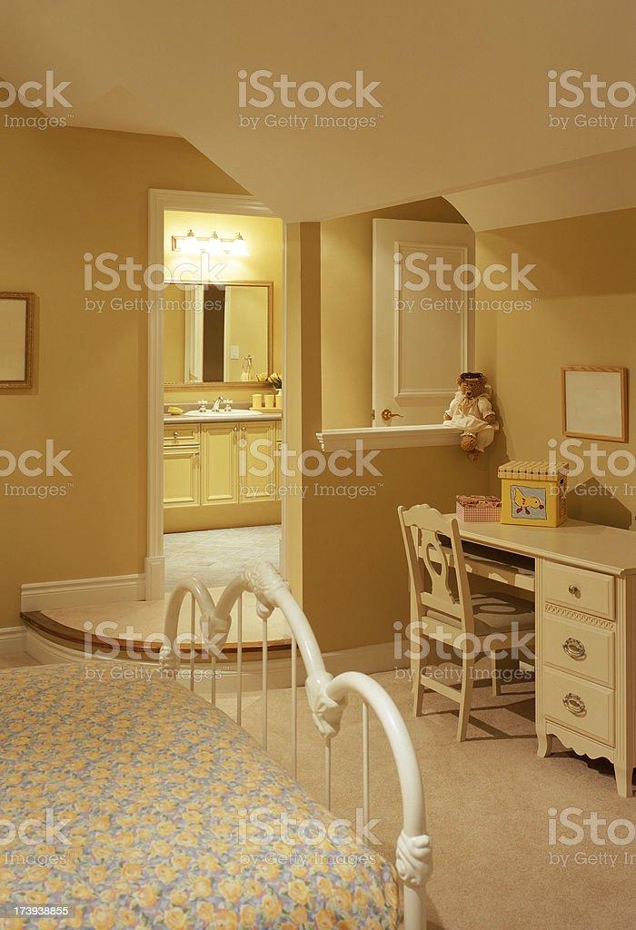Modern Junior Bedroom royalty-free stock photo