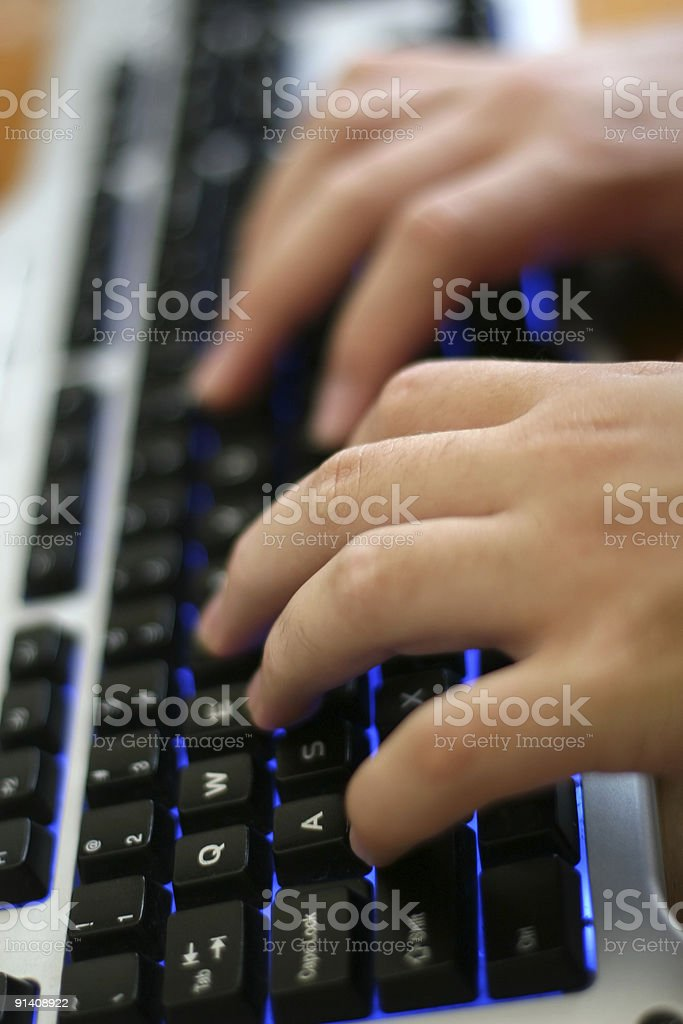 Modern Keyboard Typing royalty-free stock photo