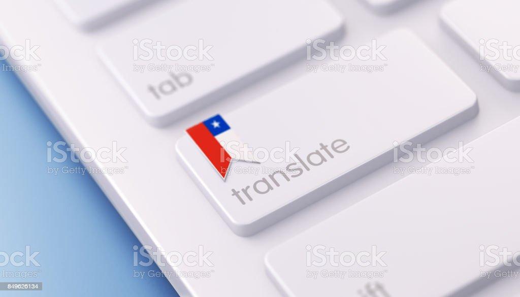 Modern Keyboard with Chilean Language Option stock photo