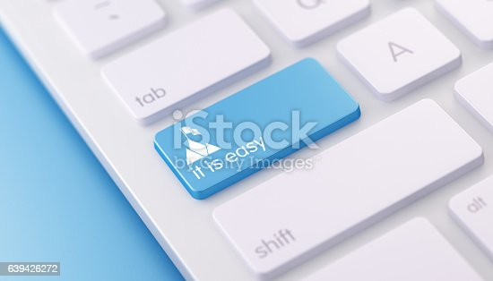istock Modern Keyboard with it is easy Button 639426272