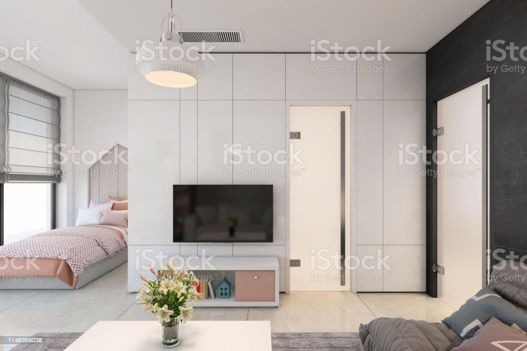 Modern Kids Bedroom Interior Stock Photo - Download Image ...